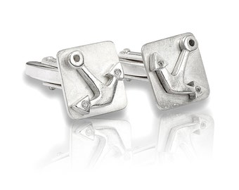 Sterling Silver Cufflinks Anchor, gifts for him, men