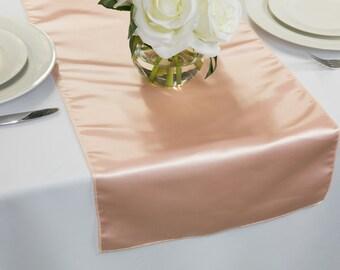 Blush Satin Table Runner | Wedding Table Runners