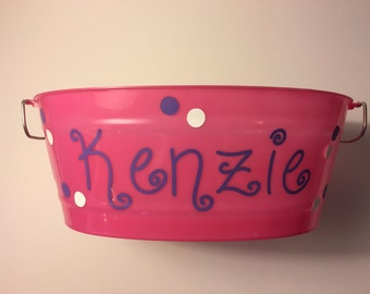 Pink Customized Easter Bucket