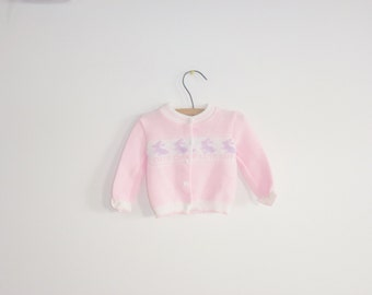 Vintage Pink Baby Girl's Sweater