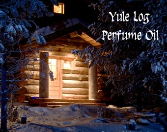 YULE LOG Perfume Oil - Frankincense, Oakwood Fire, Evergreens, Clove - Winter Fragrance - Christmas Perfume