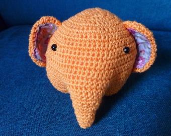 orange elephant plushie
