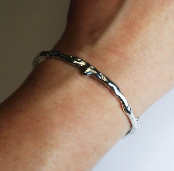 Quicksilver Thin Sterling Silver Drip Cuff