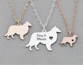 Sheepdog Necklace • Sheltie Dog Necklace • Shetland Dog • Farm Family Dog Pendant Personalize Birthday Gift Personalize Pet Name
