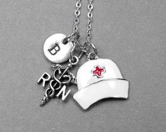 L'infirmière collier capsule, infirmière collier, collier RN, charme de RN, les infirmières cadeau, cadeau de Graduation, meilleur cadeau ami, cadeau de l'école, personnalisé d'allaitement