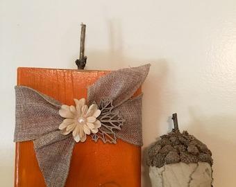 Wood Pumpkin/Halloween Decor