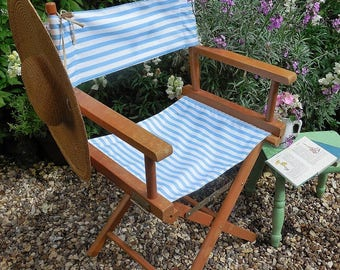 Lovely vintage wooden folding garden chair, directors chair