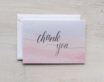 Thank You Card Set | Watercolor - Set of 8