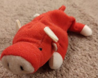 Snort the Pig - Ty Teenie Beanie Babies - 1998 (Misprint)