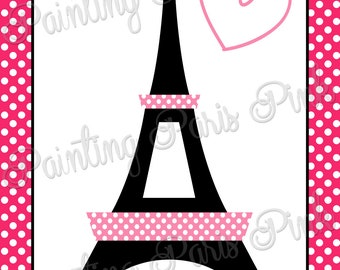 """Love In Paris PRINTABLE Party Game - Summer In Paris Collection - 20"""" x 30"""""""