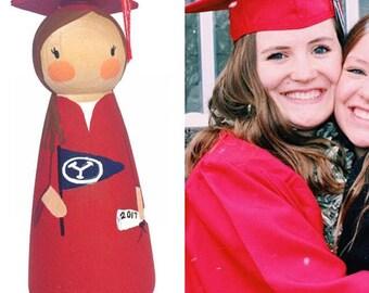 "Custom Graduation Peg doll 3.5"""