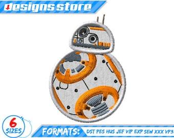 STAR WARS BB8 APPLIQUE Star Wars Embroidery Machine Design Pattern BB8 Applique Embroidery Design Star Wars Character For Kid Machine Disney