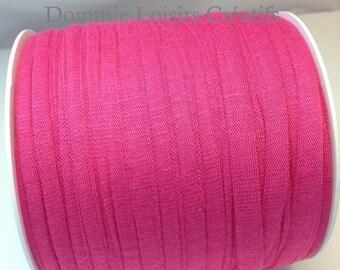 Ball of Trapillo cotton lycra jersey, fabric, pink, fuchsia