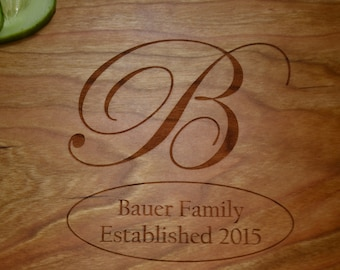 Personalized Family Cutting Board