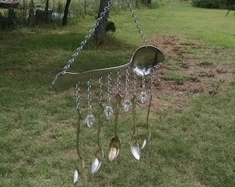 Silver Plated Spoon Wind Chimd