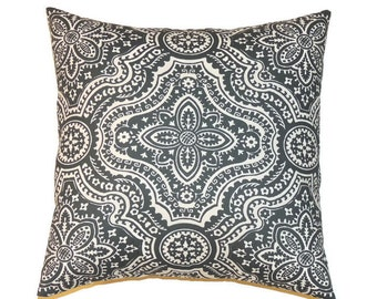 Gray Moroccan Pillow Cover, 18x18 Pillow Cover, Decorative Pillows, Modern Decor, Couch Sofa Cushion Cover, Timberwolf