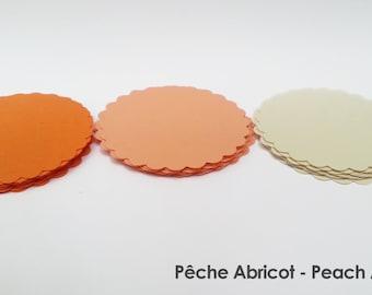 "30 - Scalloped Circles ""Peach Apricot"""