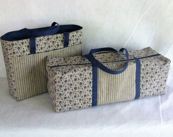Carrying Case for the Cricut Explore  / Silhouette Cameo 2 or 3 / Cricut Expression 2 / Accessory Bag / Blue country style  Flower Print