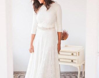 Long sleeve lace wedding dress long sleeve wedding dress ready