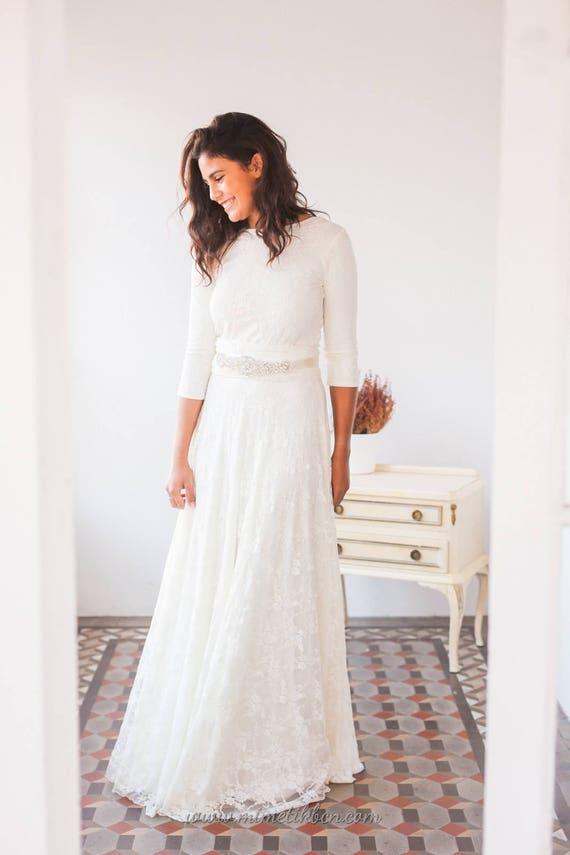 Long sleeve wedding dress long sleeve lace wedding dress