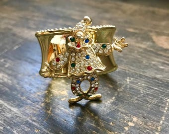 Napkin Ring with Clown Bling