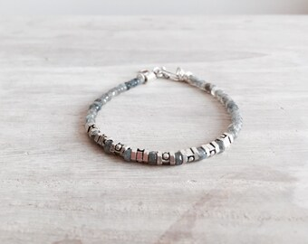 Herren Labradorit Armband mit Sterlingsilber-Ergebnisse