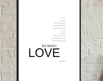 So much love Depeche Mode. Press Depeche mode 30 x 42 cm. Typographical printing. Scandinavian-style printing. Gift for him. Gift for you.