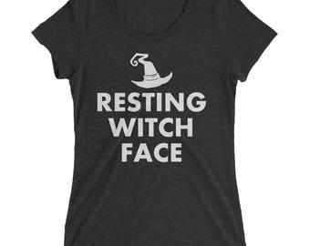 Resting Witch Face - Halloween Shirt, Halloween TShirt, Halloween Shirts, Halloween T Shirt, Halloween T-Shirt, Witches Shirt, Basic Witch
