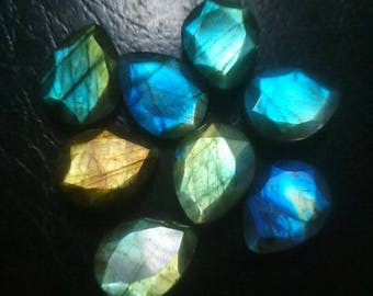 5 Pcs. Labradorite Pear Shape Faceted Cut