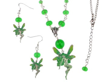 Green Fairy Jewellery Set