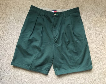 Men's Vintage 90s Tommy Hilfiger Green Casual Shorts Size 33