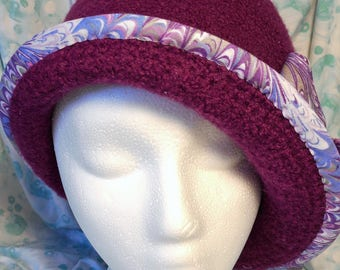 Felted 100% Wool Ladies Cloche hat
