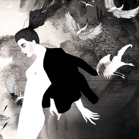 Art prints / Fashion posters / Black and white art / Stylish artwork / Voyage Privé 5