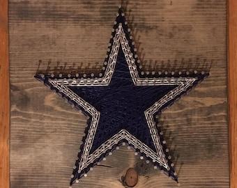 Cowboys Nail & String Art