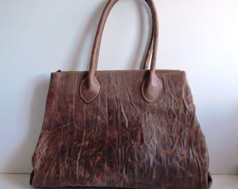 Genuine leather shopper