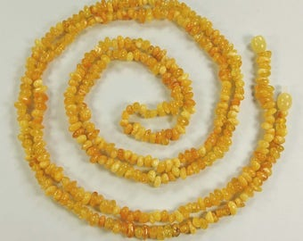 """Genuine baroque beads Baltic amber necklace,  46""""."""