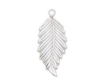 Leaf Right Charm - Sterling Silver (SS Item#C30899R)