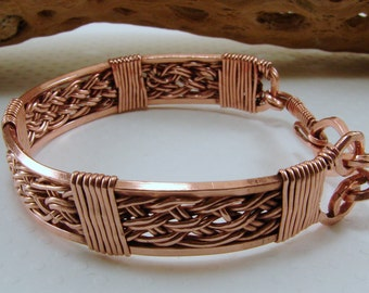 Handwoven Pure Copper Wire Bracelet, Copper Bracelet, Handwoven Bracelet