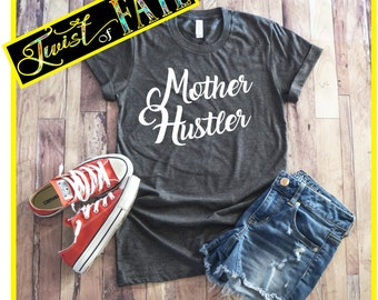 Mother Hustler,Yeti Decals,Mom Life,Funny T-Shirts,Adult T-Shirts,Trendy Tops,Cute Mom Shirts,Graphic T,Yeti Decal,Oilfield,Made in the USA