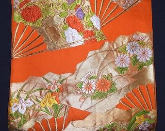 Vintage Japanese Obi Kimono Belt Fukuro Style - Fantastic Fans