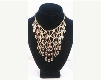 ON SALE Juliana Rhinestone Waterfall Bib Statement Necklace, Vintage Bridal Wedding Jewelry, Old Hollywood Glamour, 1940's 1950's
