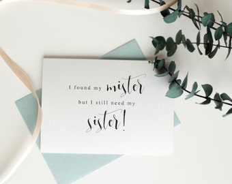 Will You Be My Bridesmaid, I found My Mister, Bridesmaid Proposal Card, Bridesmaid Gift, Ask Bridesmaids, Maid of Honor Gift