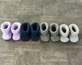 Crochet Newborn Baby Booties *Select your color*