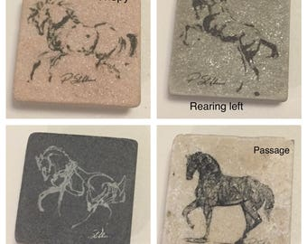 "One 2x2"" Horse lover magnet. Check out the different available images"