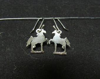 Sterling Saddlebred Silhouette Earrings