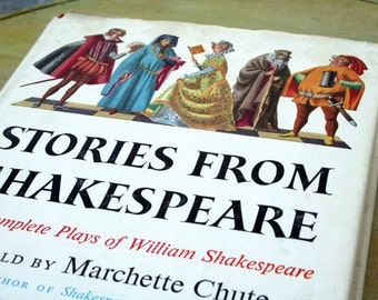 1956 / Fanstast Book / Stories From Shakespeare / The Complete Plays of William Shakespeare / Retold by Marchette Chute