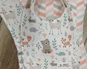 Burp Cloths Girl Burp Cloths Baby Shower Gift Baby Bibs Burp Cloths Organic Burp Cloths Burp Clothes  Burp Rags Baby Baby Burp Cloths