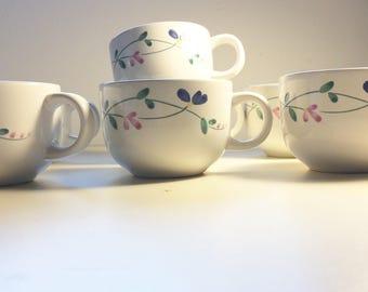 Set of SEVEN Allegro Vintage Stoneware Cups/Allegro Stoneware Hearthside Cup
