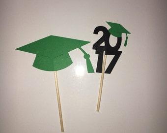 Graduation Cupcake Toppers - Customizable  Colors!