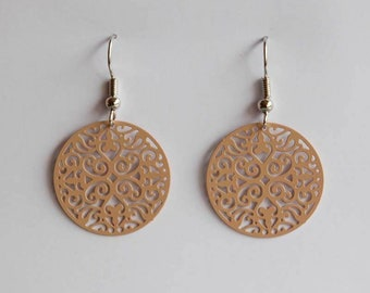Medium Ornament Earrings in beige
